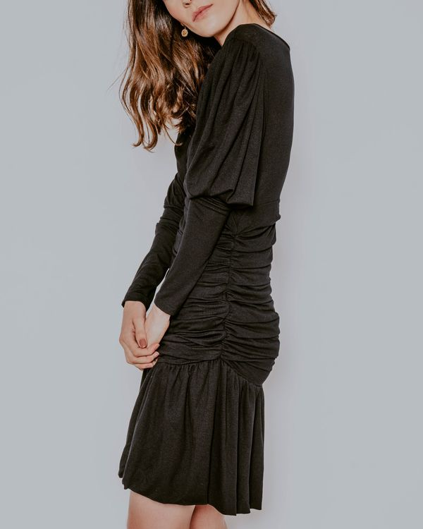 Vestido-Selma-malha-preto-drapeado