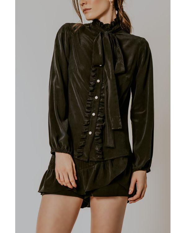 Camisa-Eneida-seda-preto-laco