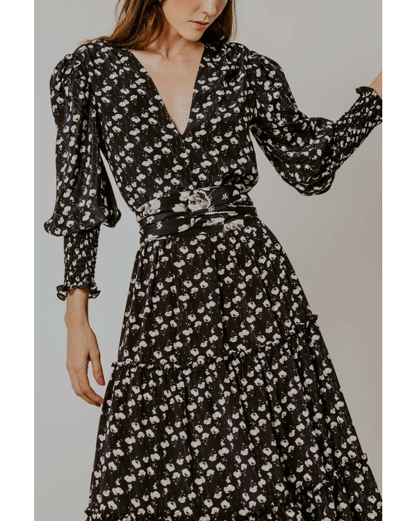 Vestido-Rebeca-seda-floral-longo-camadas